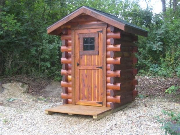cedar out house