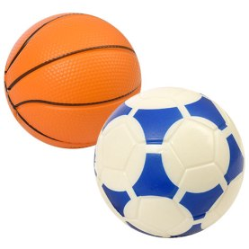 basketball and soccer ball